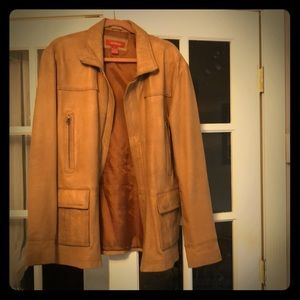 Buttery soft leather car coat